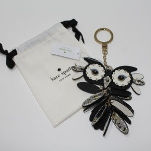 NWT Kate Spade New York Leather Owl Key FOB Charm